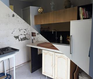Construction d'une nouvelle cuisine à Riaillé