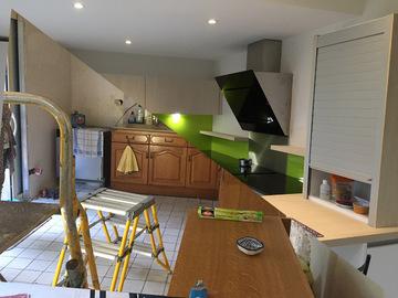 Construction d'une cuisine à ligné