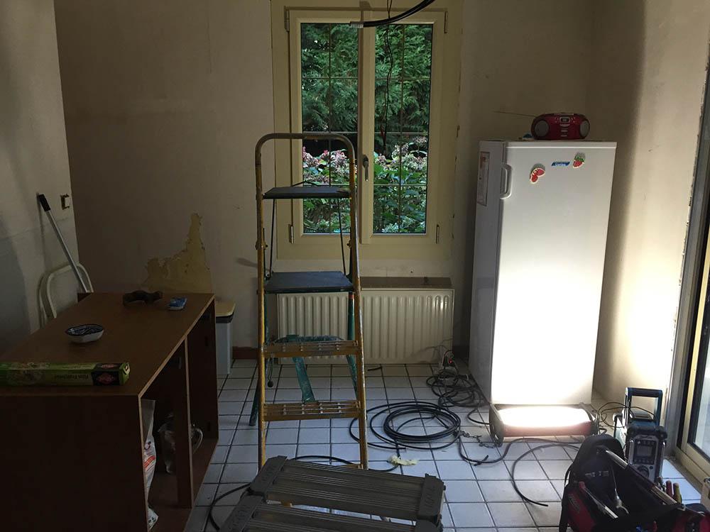 Travaux de cuisine à Ligné avant / après