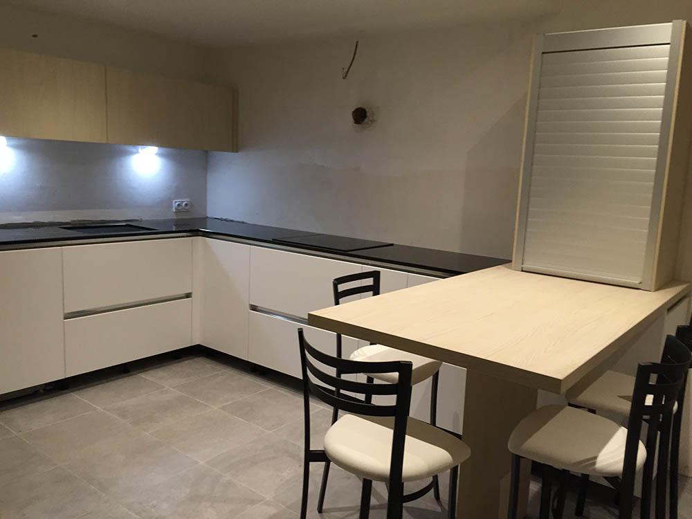 En phase de reconstruction de la nouvelle cuisine
