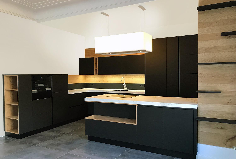poignee de meuble de cuisine noir. Black Bedroom Furniture Sets. Home Design Ideas
