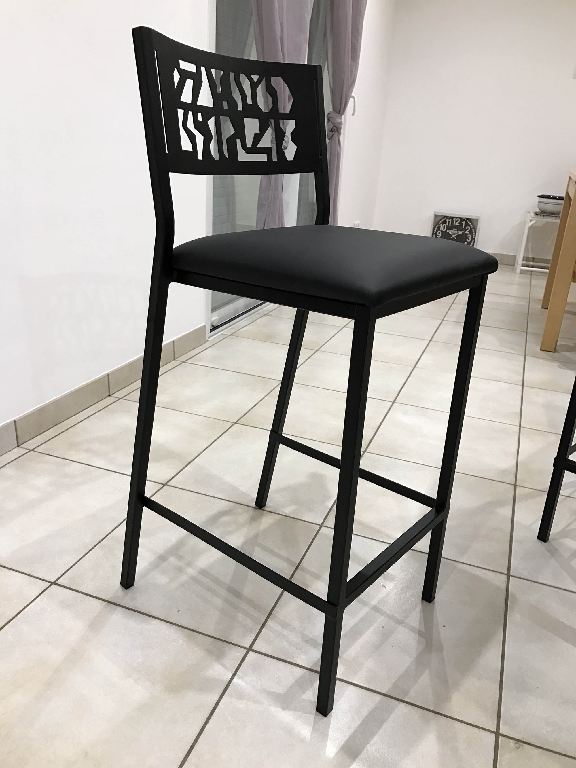 chaise haute deco pour cuisine élégante