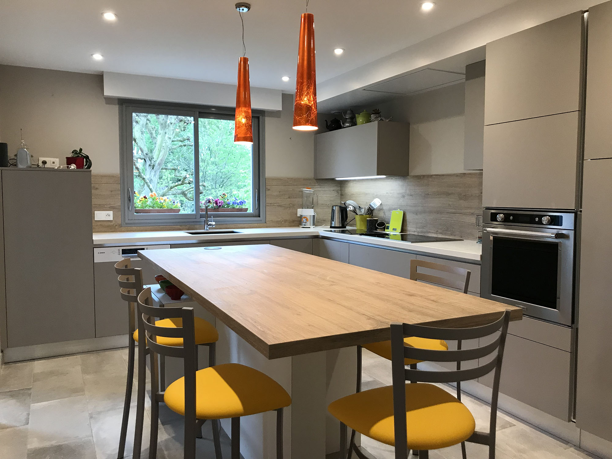 Cuisine Sucé-sur-Erdre, création d\'une cuisine avec îlot central