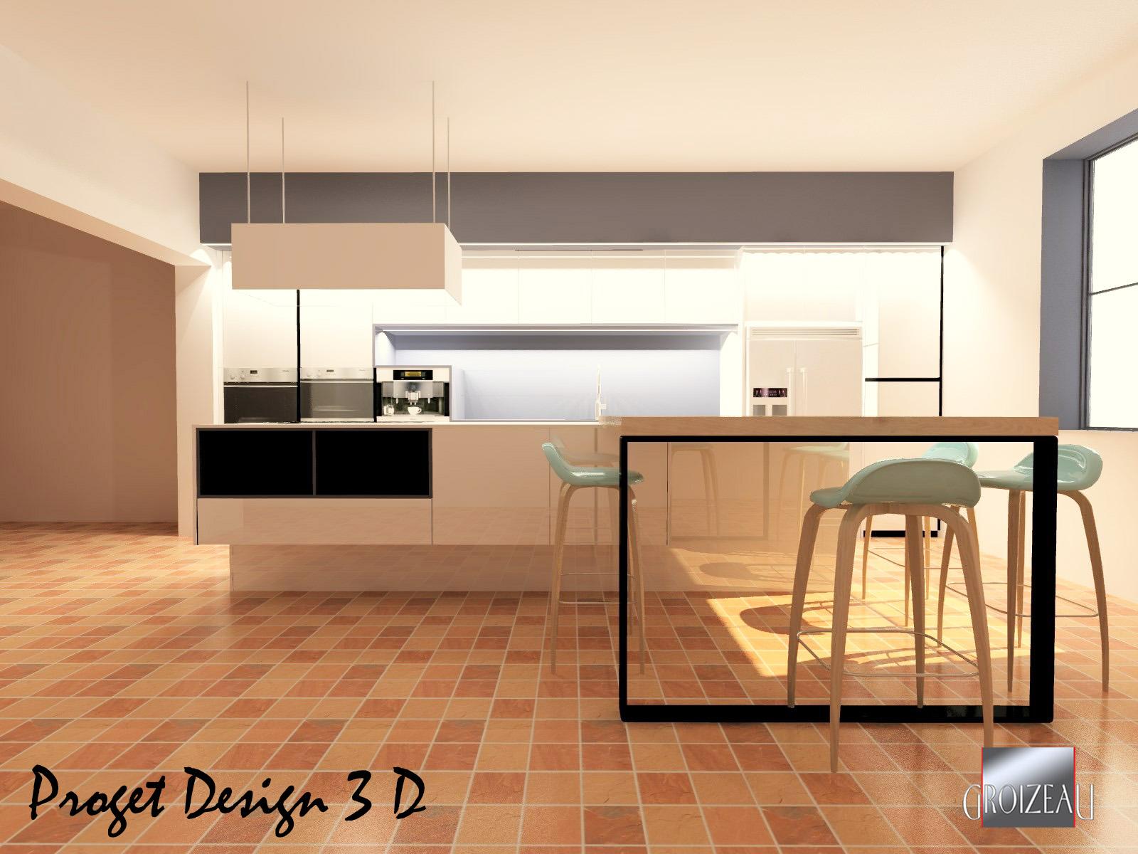 Projet 3D de cuisine