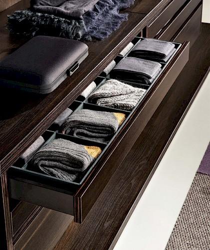 Petites boites, compartiments de rangement pour tiroir de dressing