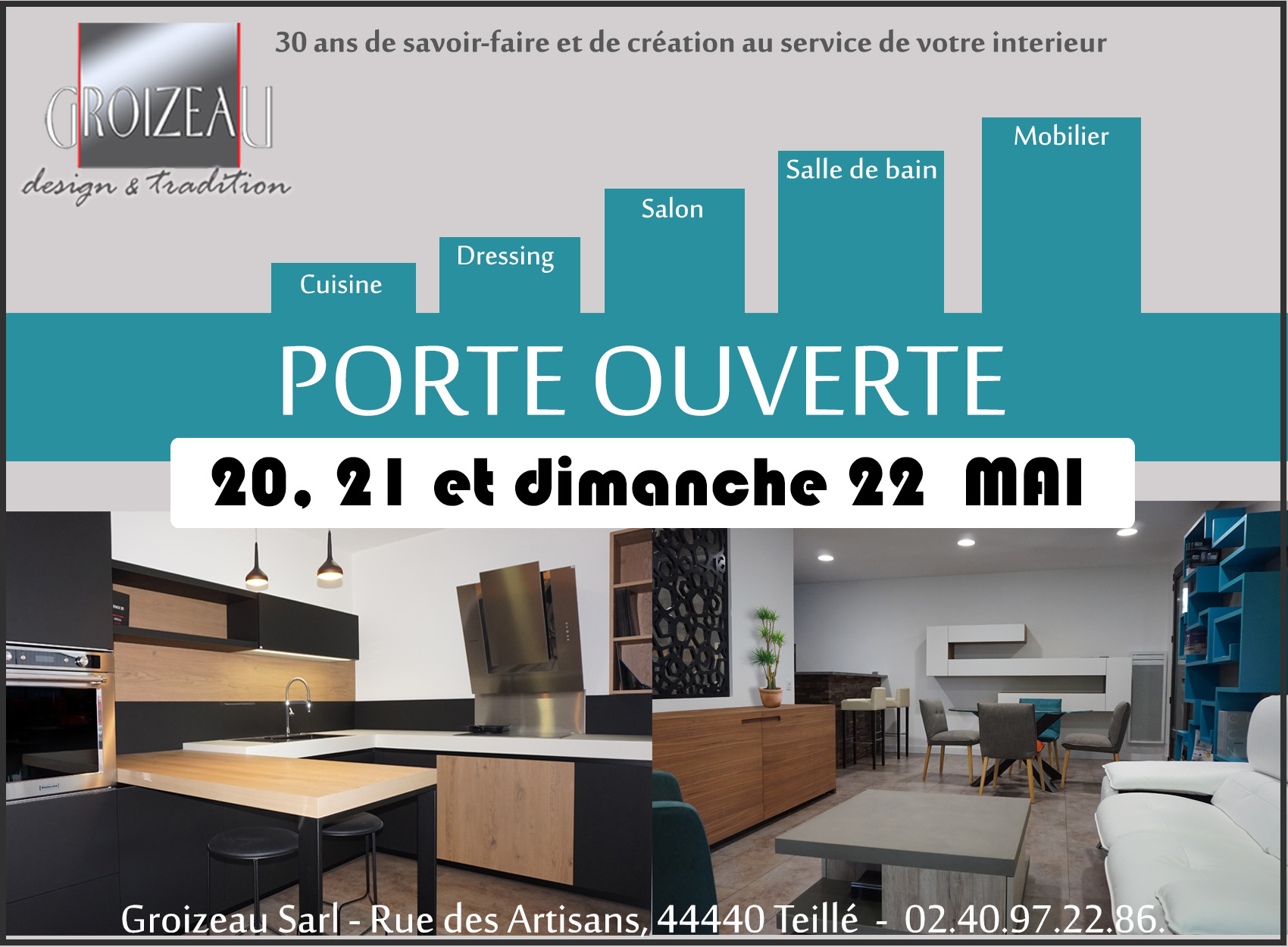 Showroom cuisine Teillé - atelier Groizeau invitation