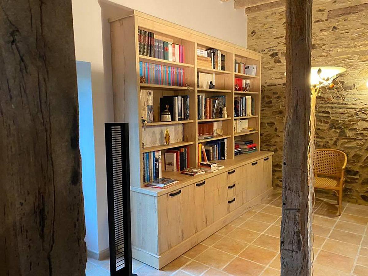 bibliothèque sur mesure à Carquefou