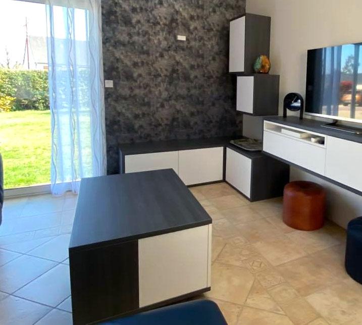 Table basse fabriquée par Groizeau Concepteur d'intérieur