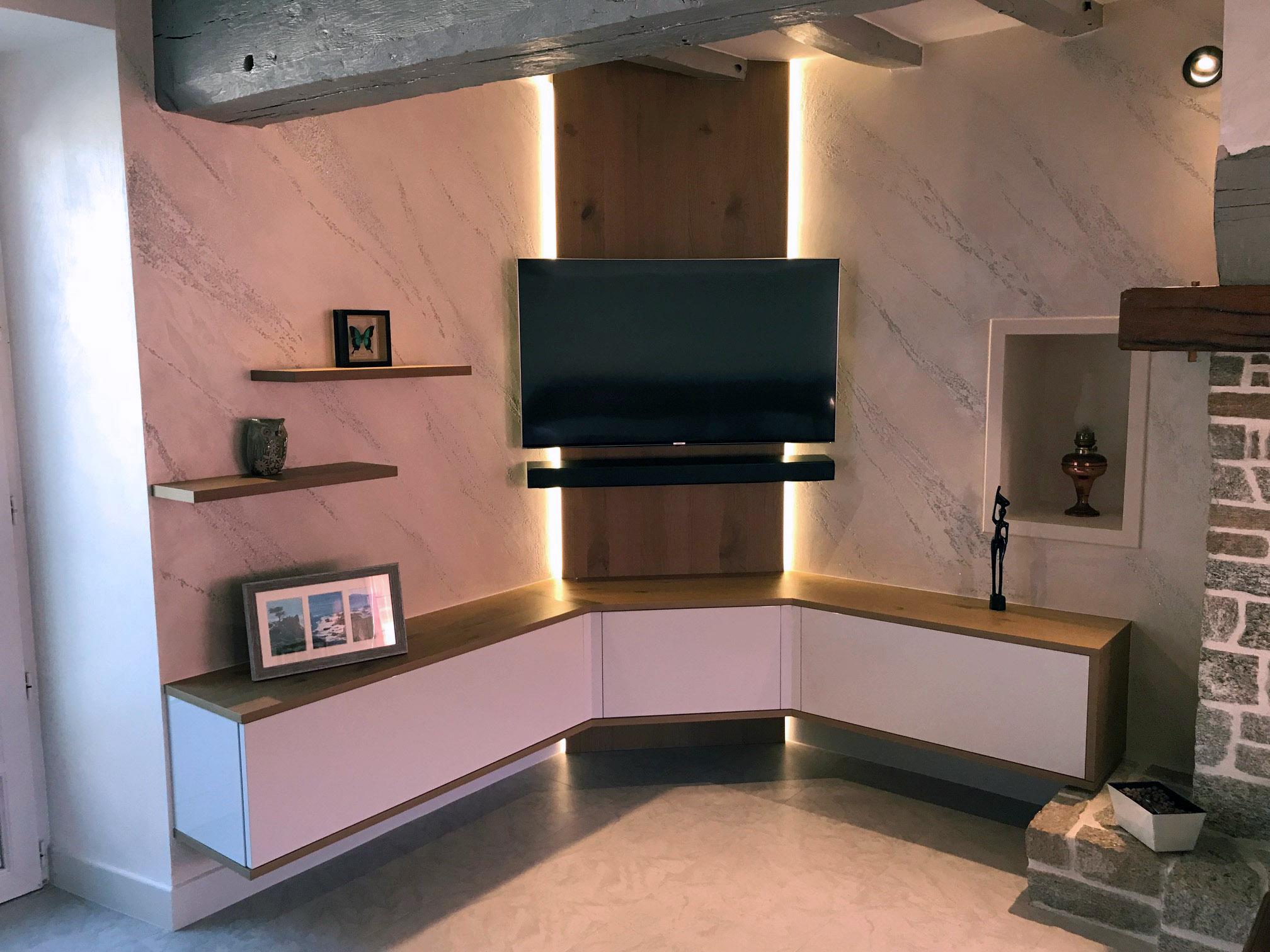 Meuble Tv Angle Suspendu meuble d angle salon design - kumpalo.parkersydnorhistoric