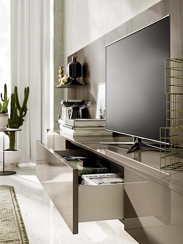 Meuble Tv avec deux couleurs de bois