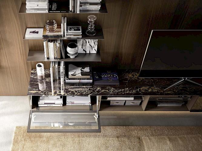 Meuble Tv pierre et bois