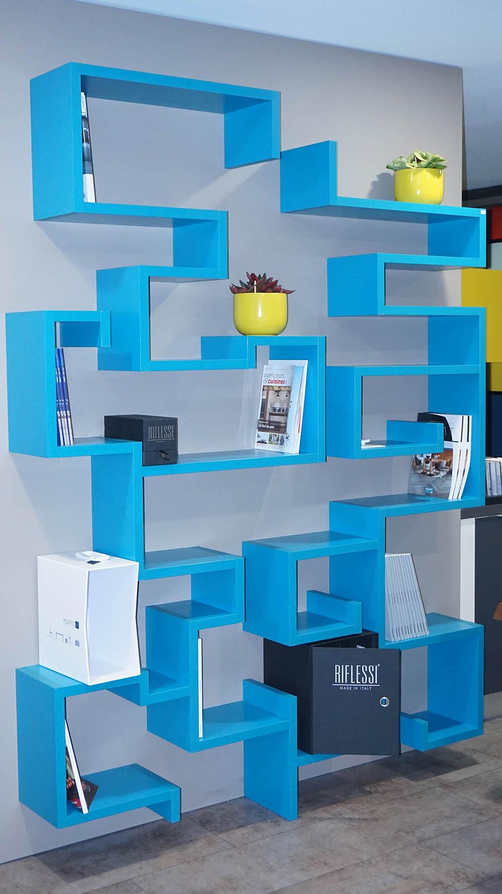 Bibliotheque design sur mesure for Meuble sur mesure yverdon