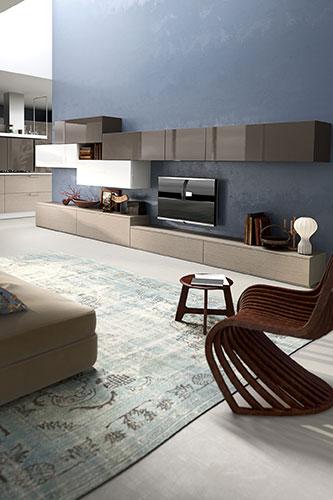 salon détente et meuble tv