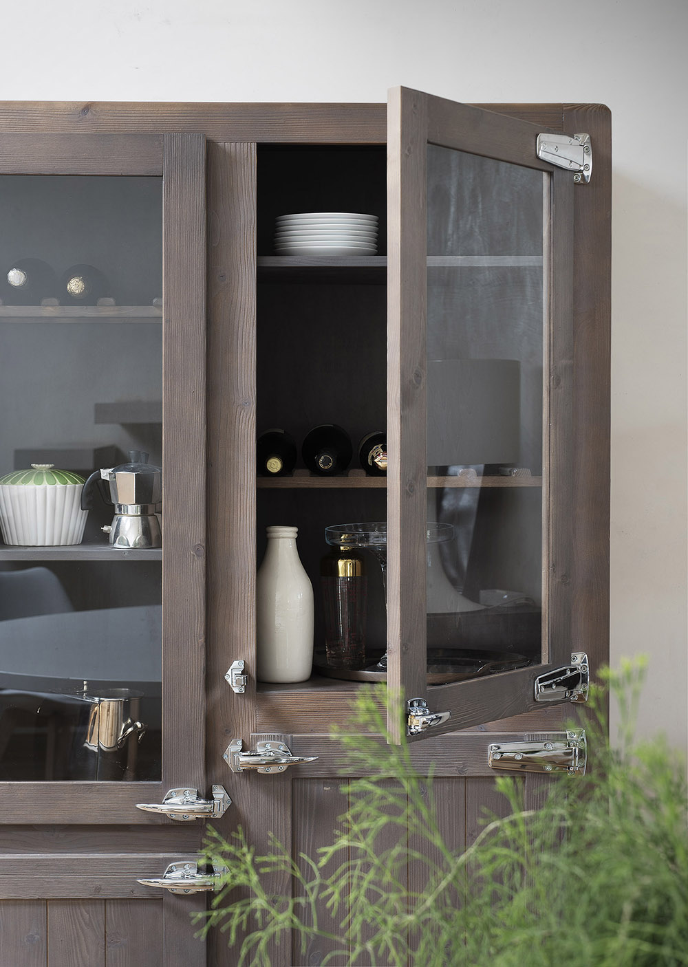 Armoire vitrine de cuisine