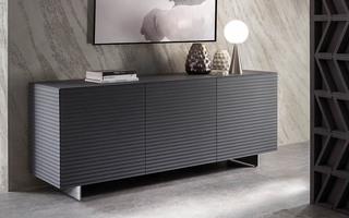buffet contemporain fa ade ondul e. Black Bedroom Furniture Sets. Home Design Ideas