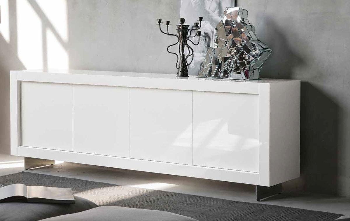 Buffet Design Picasso blanc nacré