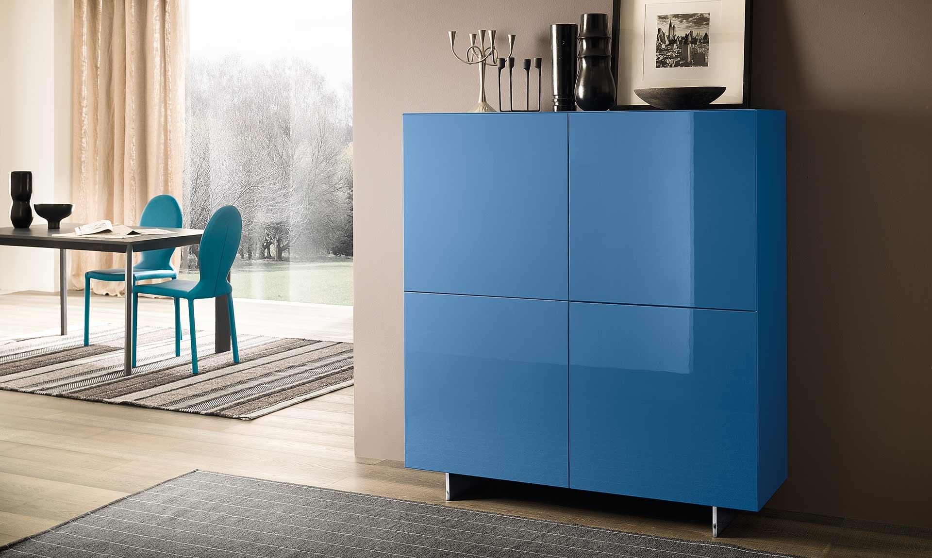 Buffet design bleu