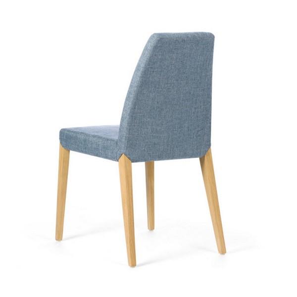 Chaise de qualité modèle Sweet couleur grise de dos