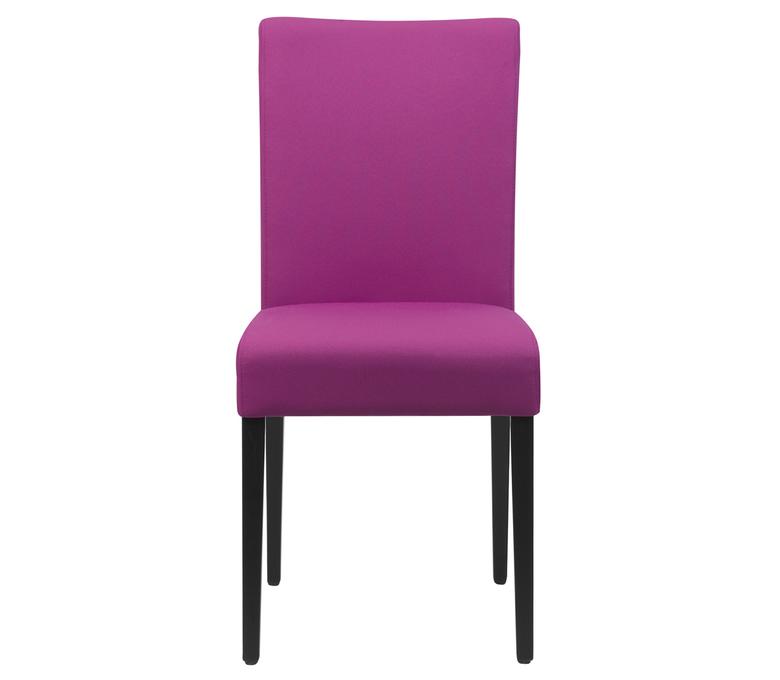 chaise en cuir rose dossier haut