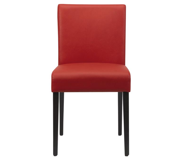 chaise en cuir rouge