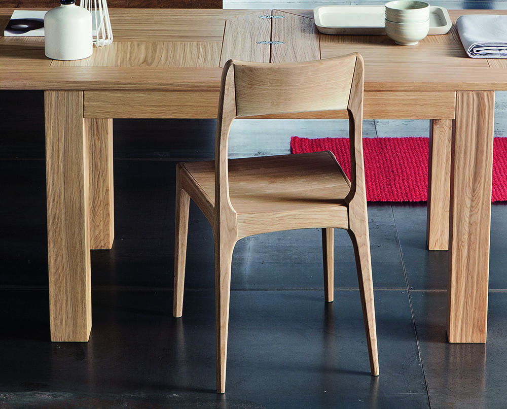 Chaise NICE design en bois  sans coussin