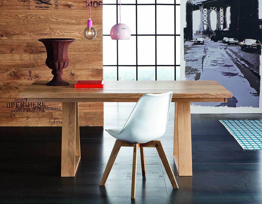 Table parigi et pied triange avec chaise haut de gamme Space