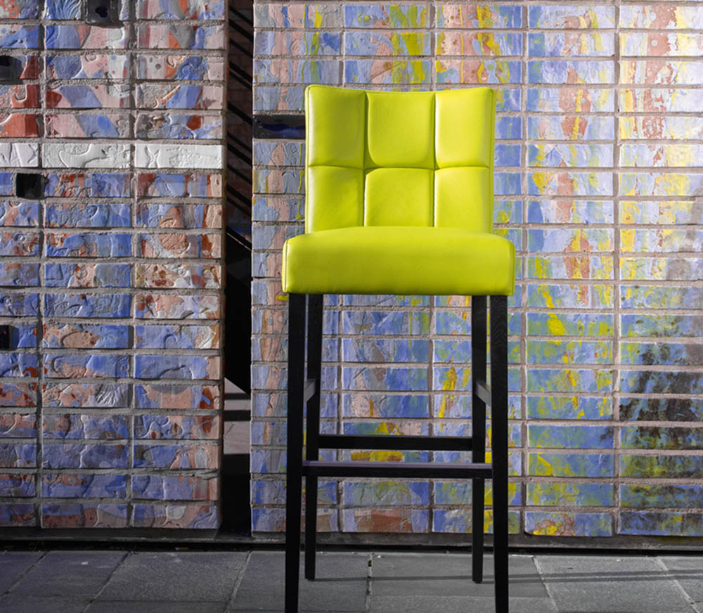 Chaise haute carré verte