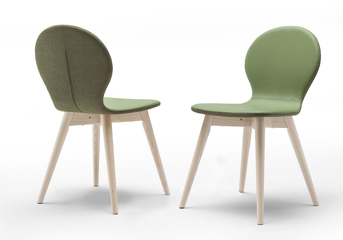 CHaise design cuir et tissus modèle altacorte nina