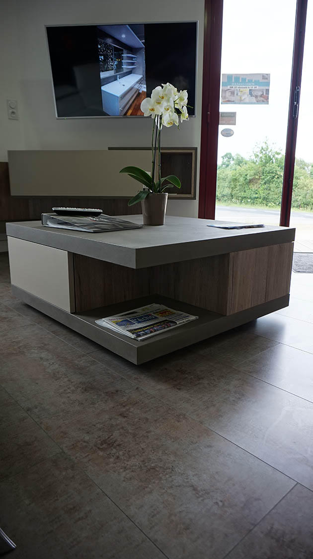 table basse finition beton. Black Bedroom Furniture Sets. Home Design Ideas
