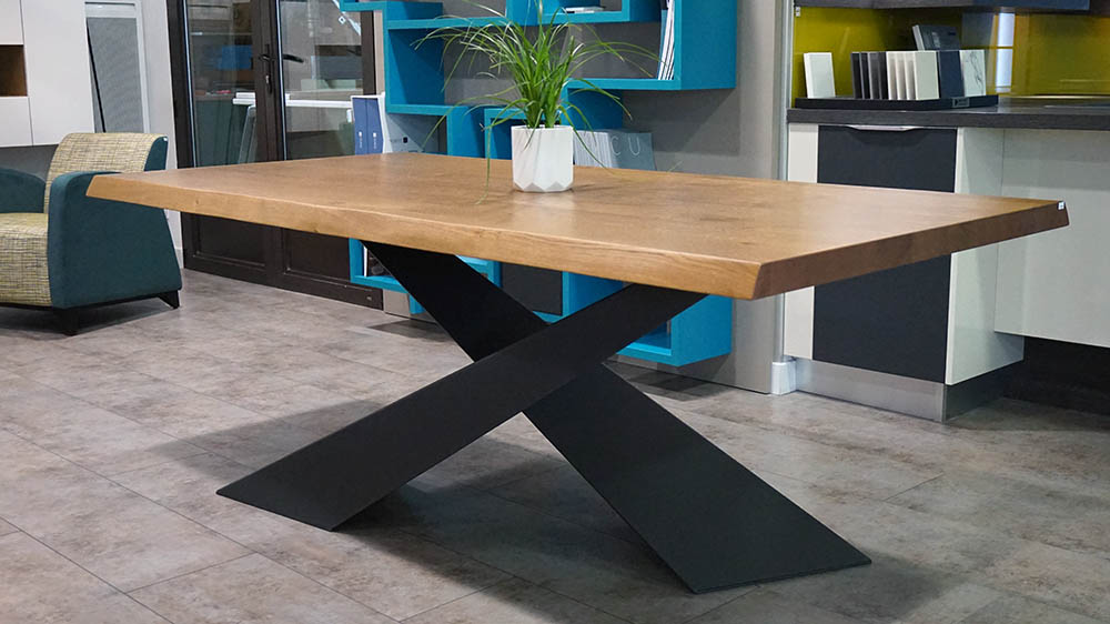 Table design haut de gamme for Table bois massif