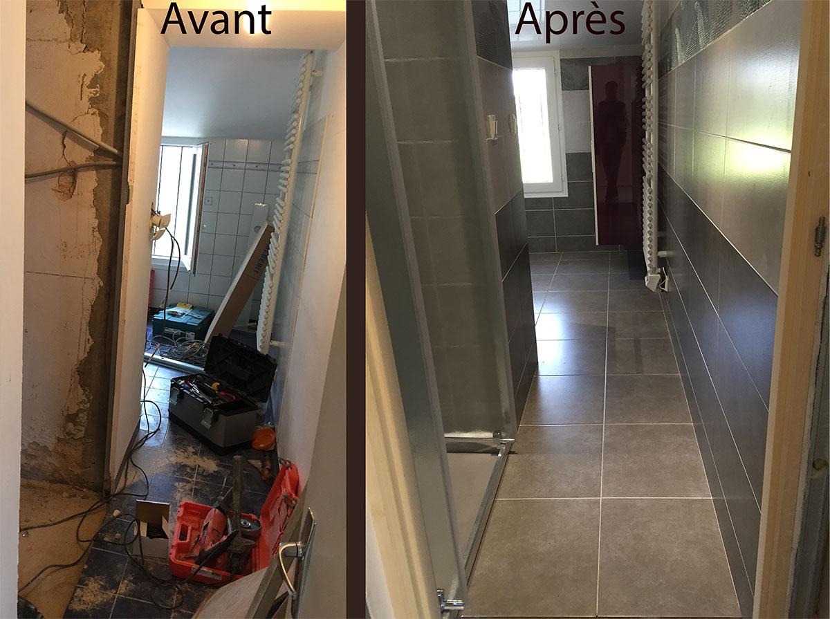 salle de bain couloir salle de bain couloir with salle de bain couloir agencement salle de. Black Bedroom Furniture Sets. Home Design Ideas