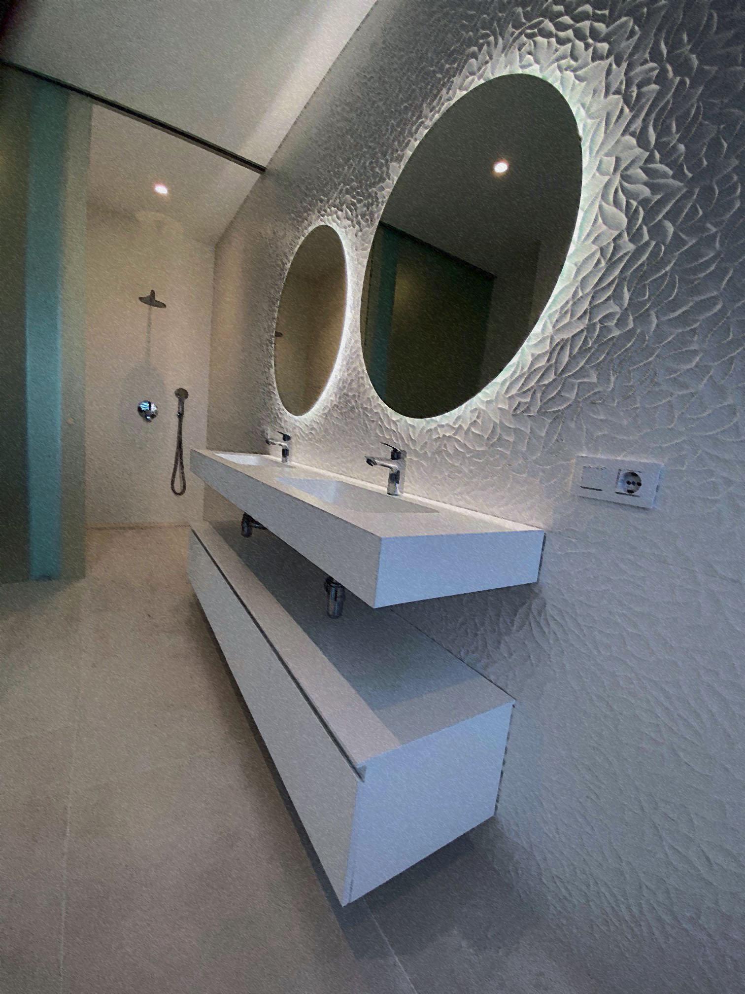 meuble suspendu de salle de bain