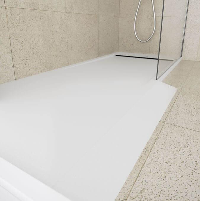 Modèle de receveur blanc  avec écoulement caché