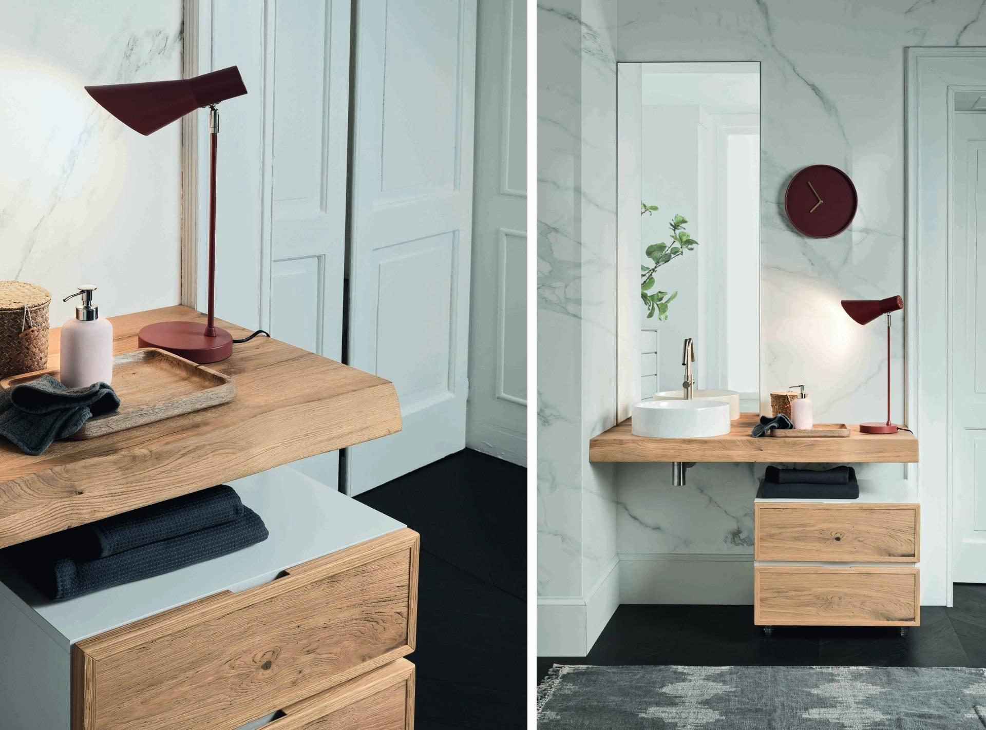 salle de bain blanche et bois deco suedoise