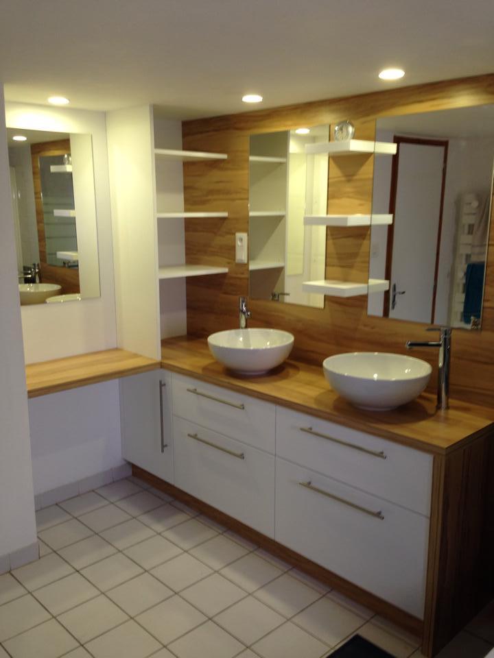 Salle de bain en u
