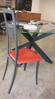 Chaise lourde rouge deco pour la cuisine